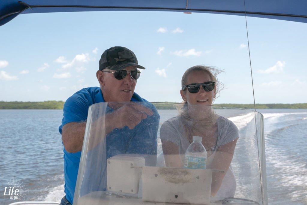 Boot fahren im Everglades Nationalpark