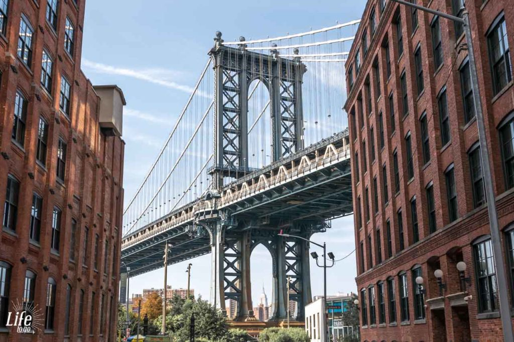 Manhattan Bridge von Brooklyns Dumbo aus