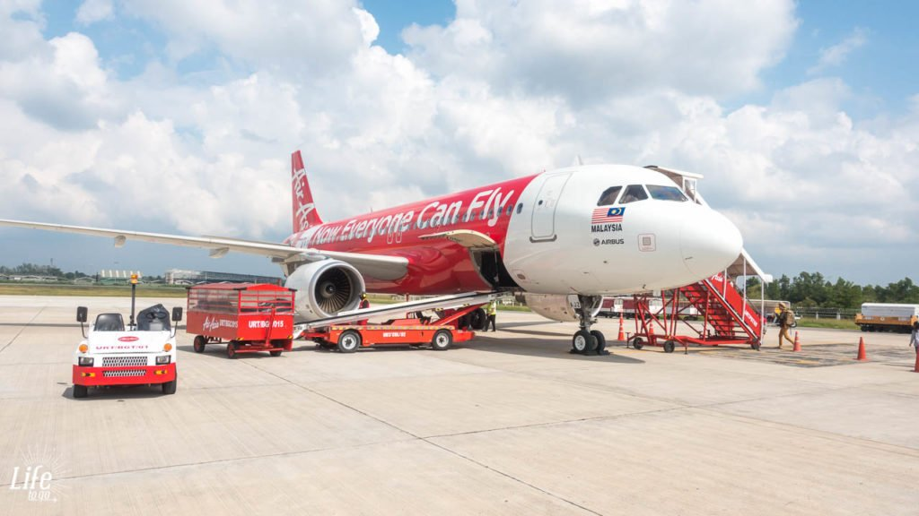 Flugzeug Air Asia von Bangkok nach Koh Samui