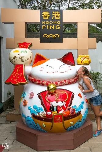 Karte Ngong Ping Village Hong Kong