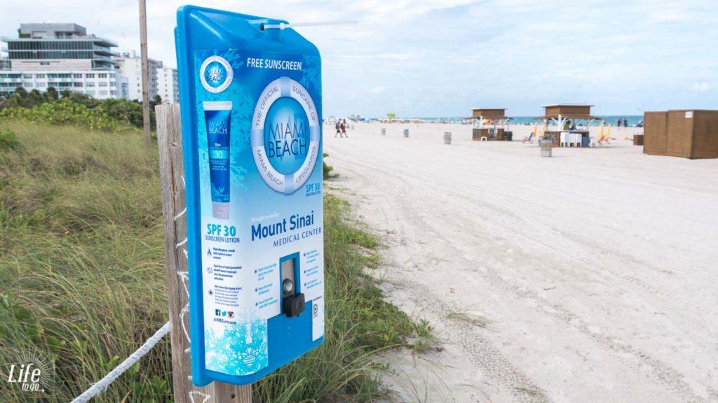 kostenlose Sonnencreme Miami Beach
