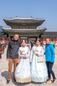 Foto vor dem Gyeongbokgung Palace