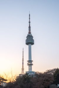 N Seoul Tower goldene Stunde in Seoul