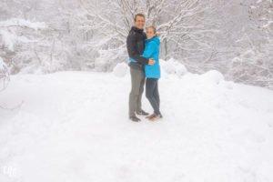 Schnee Jeju Island Südkorea