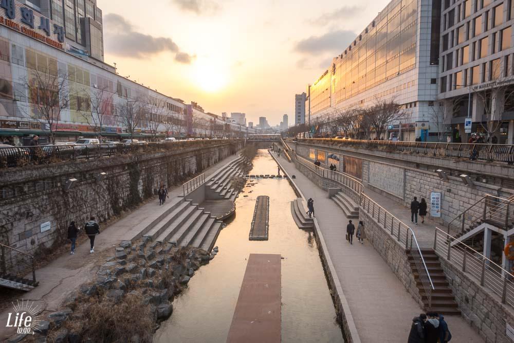 Sonnenuntergan Südkorea