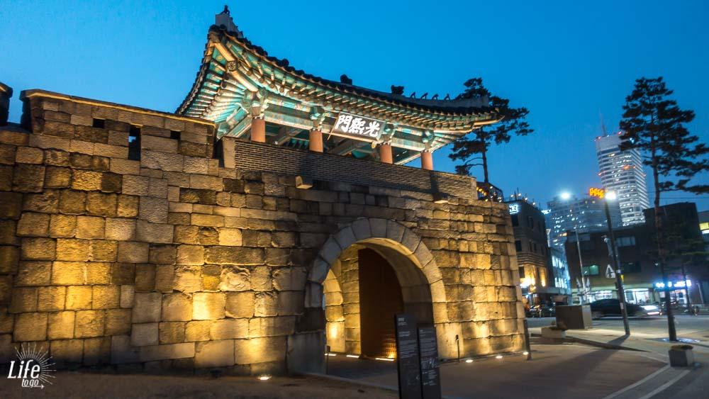 Seoul Tempelmauer Südkorea