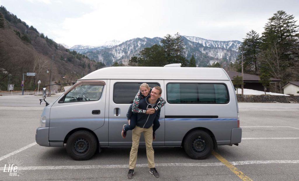 Camping Japanischen Alpen