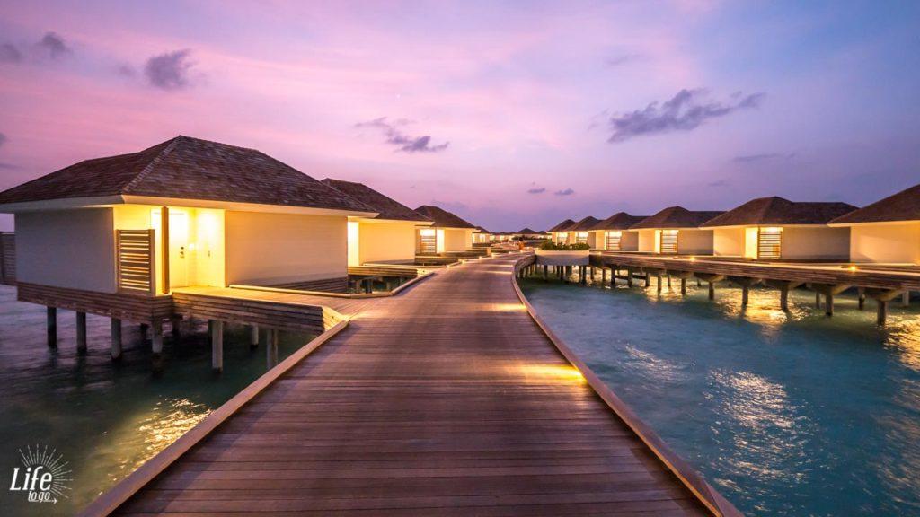 Über Wasser Villen Bungalows Malediven Resort Kandima