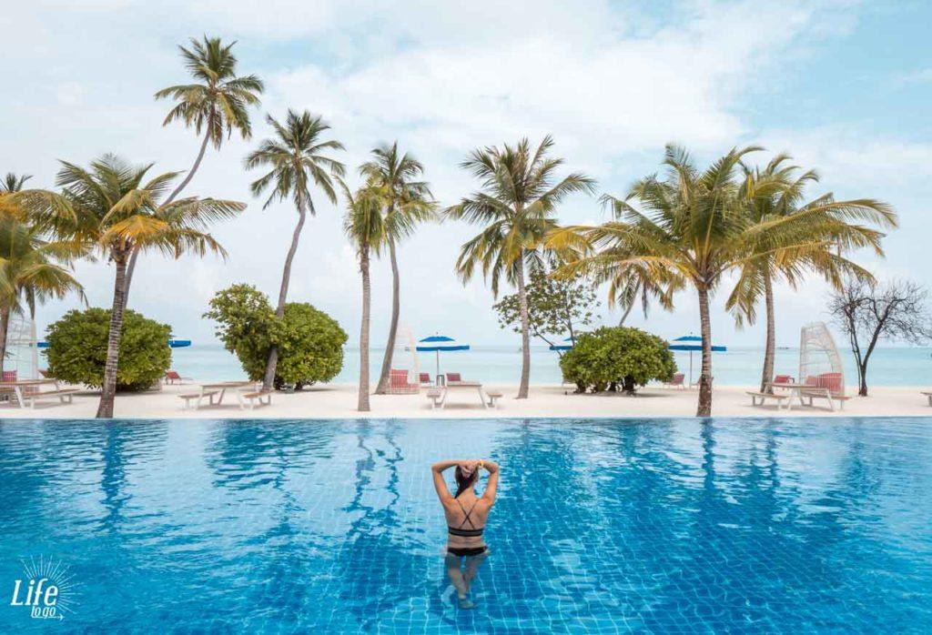 Längster Pool auf den Malediven