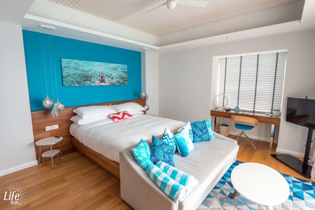 Schlafzimmer Wasser Villa Kandima