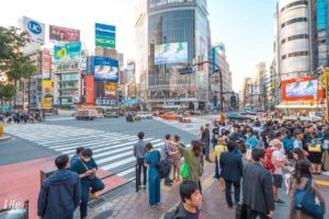 Shibuja Crossing rote Ampel