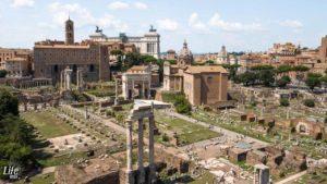 Aussicht vom Palatin auf Forum Romanum Rom