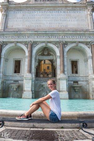 Fontana Paola Brunnen Gianicolo Rom