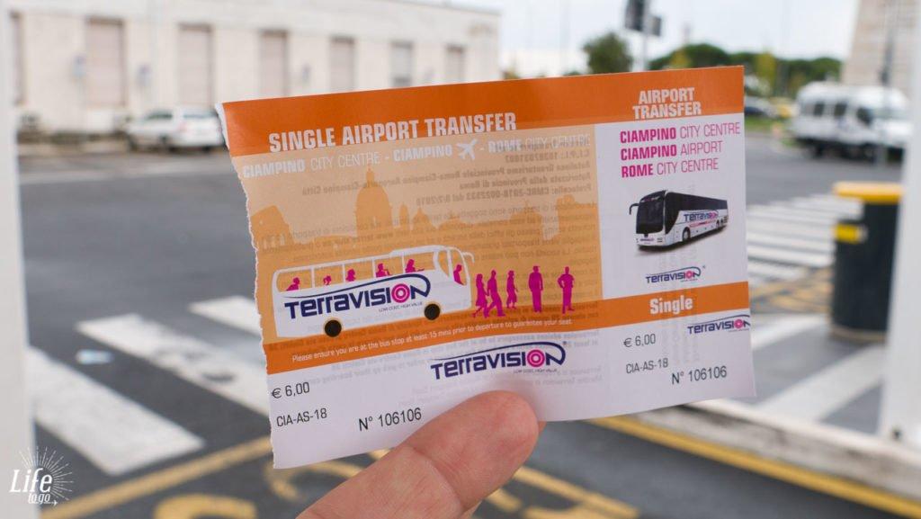 Terravision Flughafentransfer Ciampino Rom