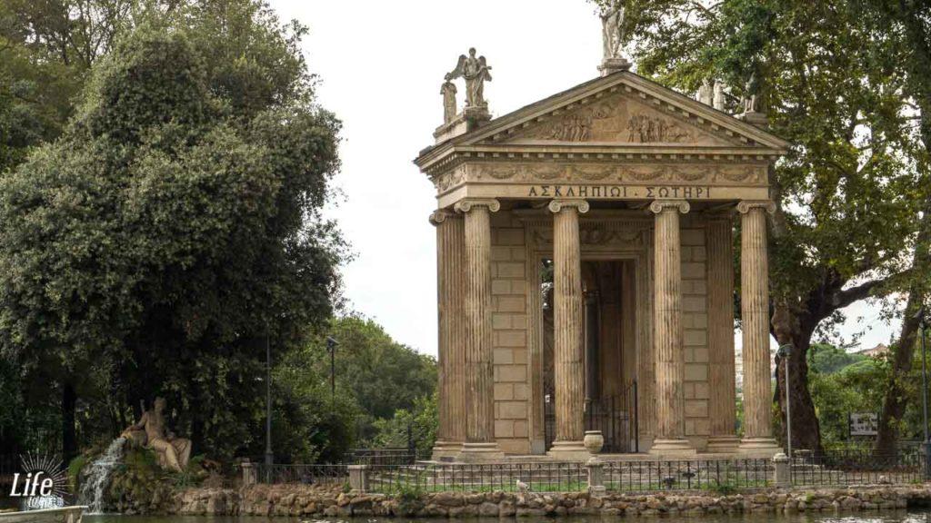 Asklepiostempel Villa Borghese Rom