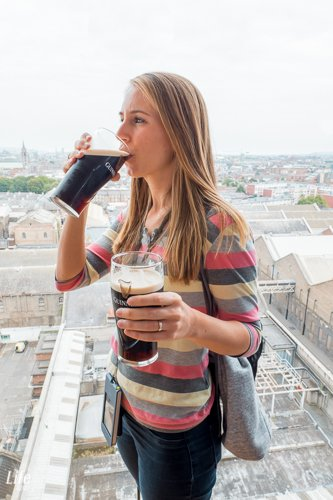 Guinness Bier im Guinness Storehouse Dublin