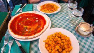 Pizza, Nudeln, Gnocchi Rom