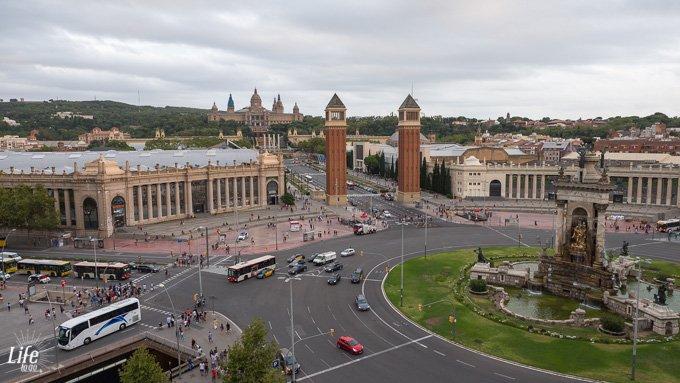 Plaza de Espana Aussicht von Arenas de Barcelona Shoppingmall