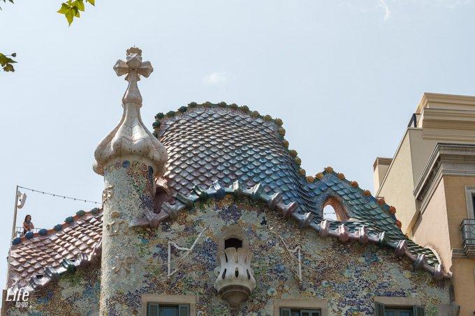 Drachendach Casa Batllo Barcelona