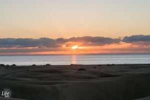 Maspalomas Duenen Sonnenaufgang am Morgen