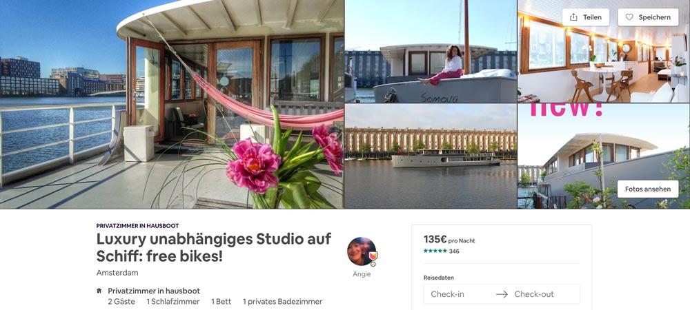Luxus Airbnb Hausboot in Holland - ausgefallene Airbnb Unterkunft
