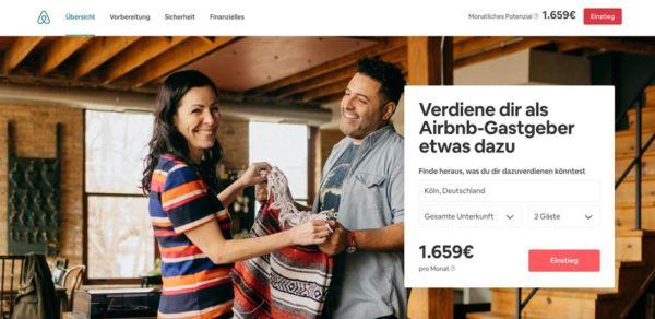 Airbnb Wohnung vermieten und Geld verdienen