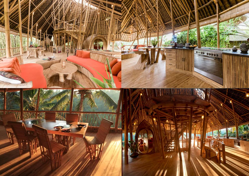 ausgefallene Airbnb Unterkunft Bali All Bamboo House