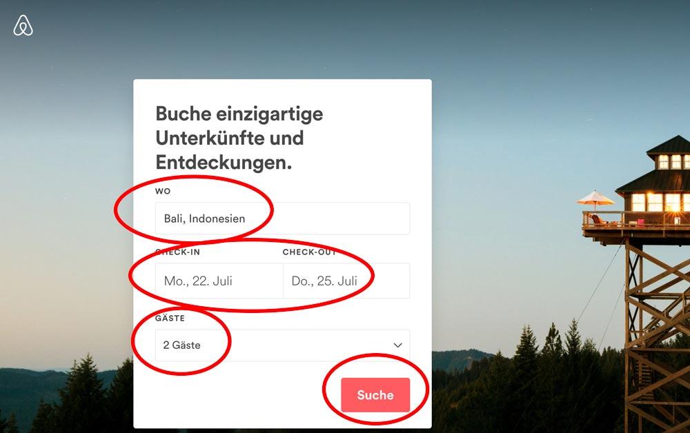 Anleitung weltweit verrückte Airbnb Unterkünfte finden