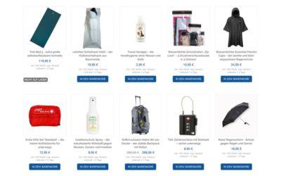 Isomatten, Regenponchos und mehr Weltreise Ausrüstung im Life to go Weltreise Shop