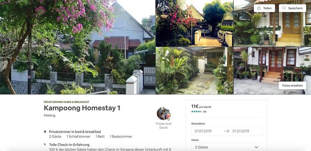 Kampoong Homestay Malang Airbnb