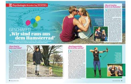 Life to go Bericht in Bild der Frau Zeitschrift