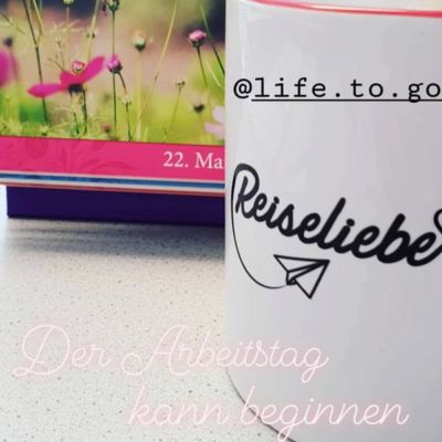 Reiseliebe Tasse Life to go