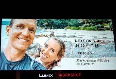 Life to go Panasonic Bühne Vortrag