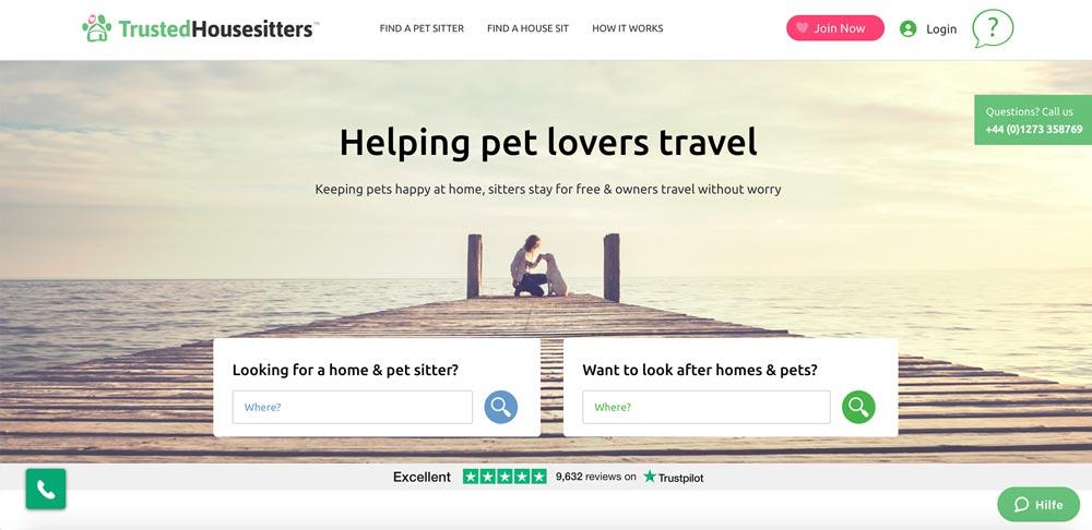 TrustedHousesitters - kostenlos wohnen mit Tieren in besten Unterkünften