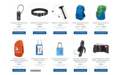 Sicherheitsgeldbörsen, Geldgürtel und mehr Weltreise Ausrüstung im Life to go Weltreise Shop