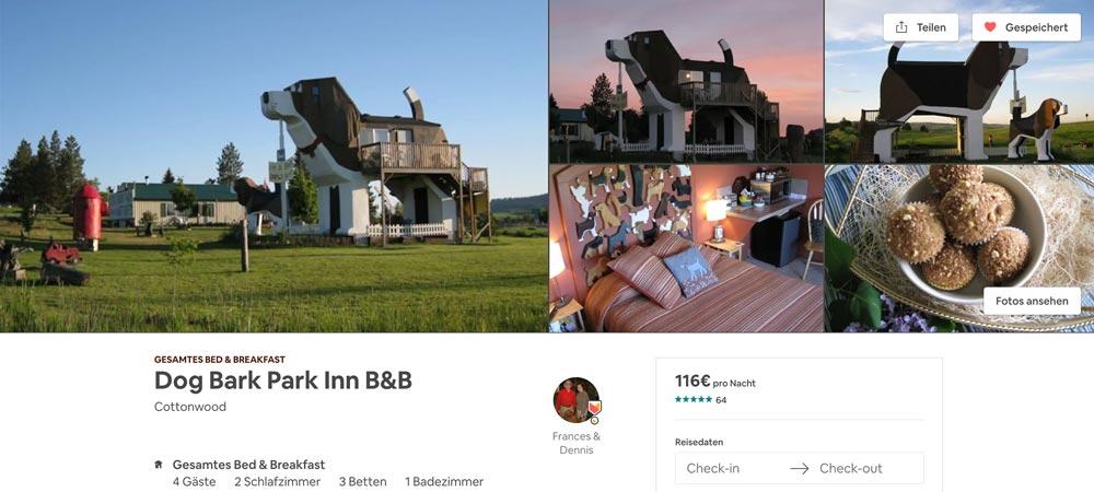 Hundehütte Airbnb ausgefallene Unterkunft
