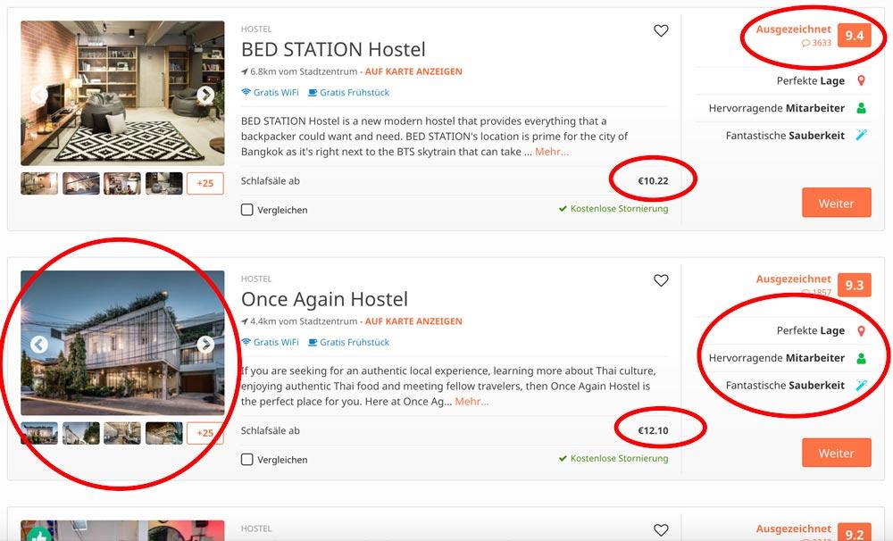 beste Unterkunft im Hostelworld Suchergebnis für Bangkok