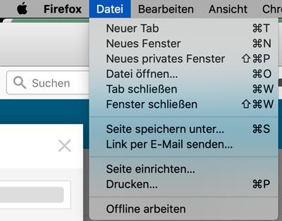 privates Fenster Firefox öffnen