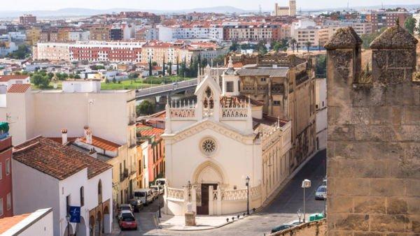 Badajoz Altstadt in Spanien