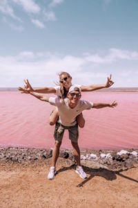 Pink Lake Westaustralien - Hutt Lagoon Pink Lage