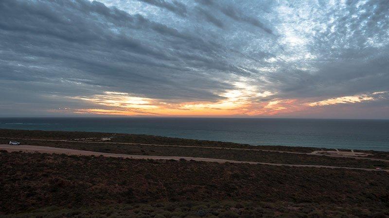 Sonnenuntergang Exmouth Vlamingh Head Lighthouse