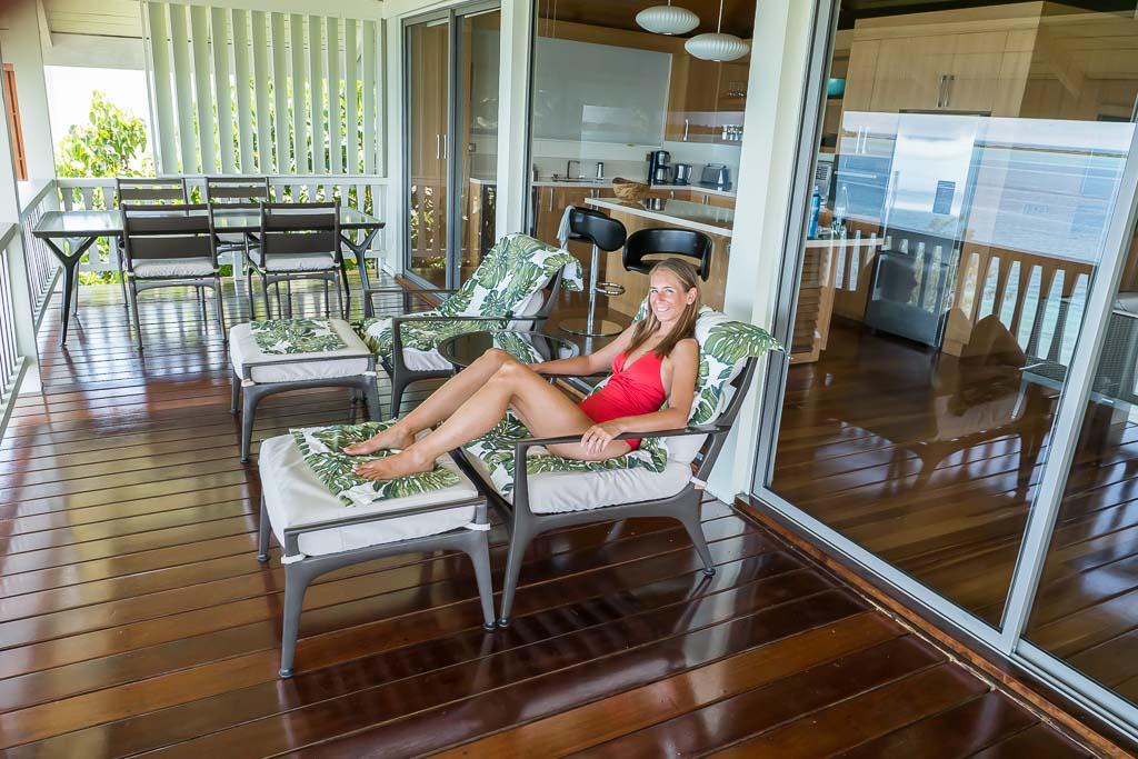 Bora Bora Unterkunft Balkon