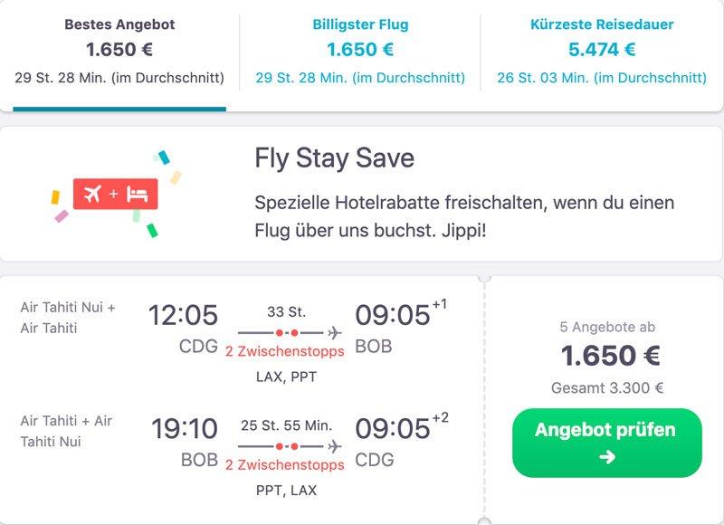 Bora Bora Reisetipps günstige Flüge finden