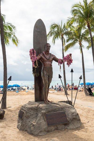 Waikiki Beach Statue Duke Paoa Kahanamoku