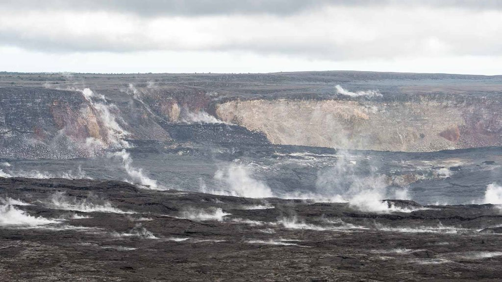 Kilauea Vulkan Krater