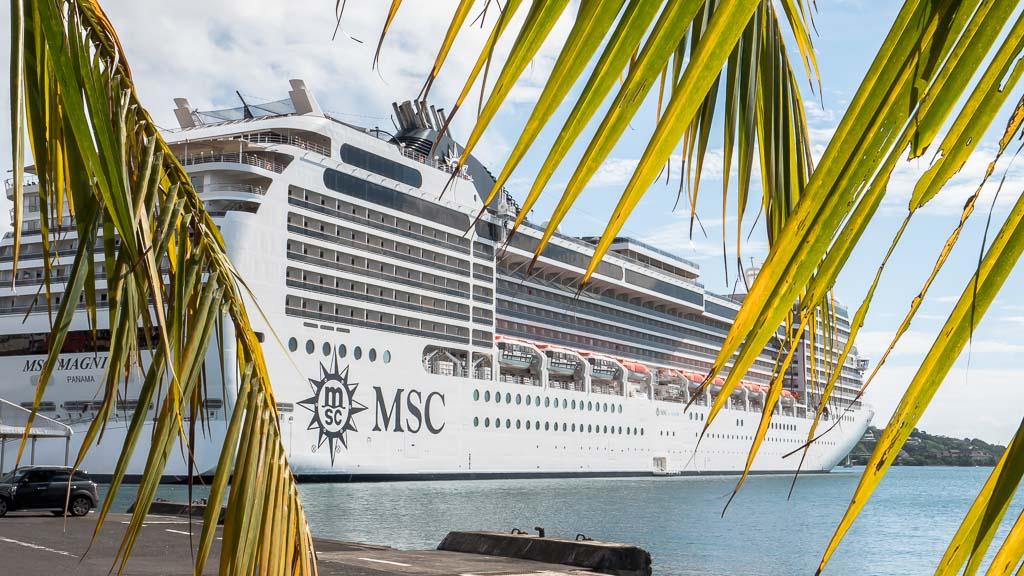 MSC Magnifica Papeete Hafen