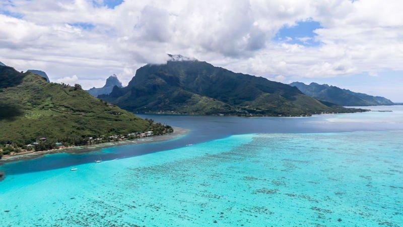 Moorea Drohne Französisch Polynesien