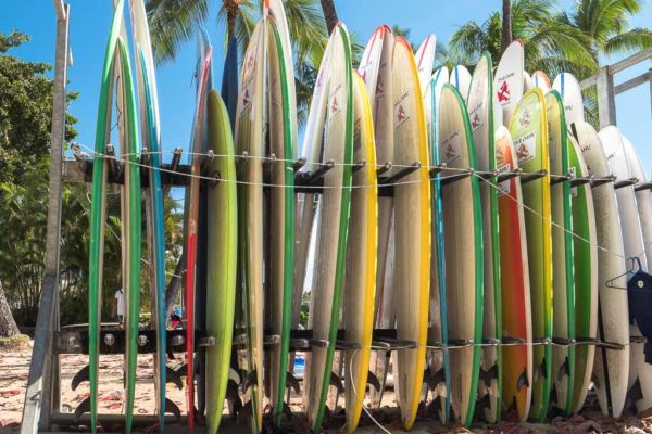 Surfboards Waikiki Beach Honolulu