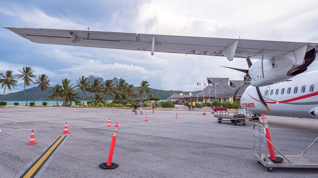 Bora Bora Anreise Flugzeug