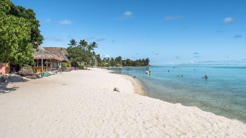 Matira Beach schönster Strand Bora Bora
